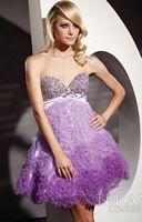 Terani Beaded Ruffle Short Prom Dress P190 image