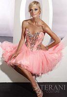 Terani Beaded Corset Short Prom Dress P192 image