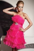 Terani Pink Tier Ruffle Short Prom Dress P194 image