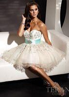 Terani Beaded Tulle Short Prom Dress P198 image