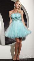 Terani Ruffled Tulle Short Prom Dress P200 image