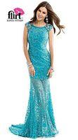 Flirt P2844 Cap Sleeve Lace Mermaid Dress image