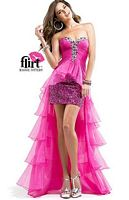 Size 28 Funky Pink Flirt P2860 High Low Dress image