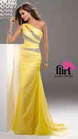 Flirt P4717 Draped Chiffon Evening Dress image
