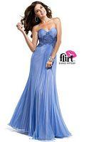 Flirt P4801 Pleated Chiffon Formal Dress image