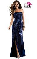 Flirt P4821 Draped Metallic Jersey Evening Dress image