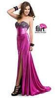 Flirt P5833 Metallic Jersey Gown with Lace image