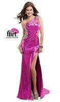 Flirt P5863 One Shoulder Jersey Evening Dress image