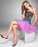 Cire by Landa Short Sequin and Tulle Prom Party Dress PC189 image