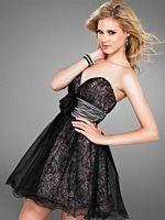 Cire by Landa Metallic Swirl Short Prom Party Dress PC195 image