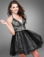 Cire by Landa Metallic Tulle Short Prom Party Dress PC224 image