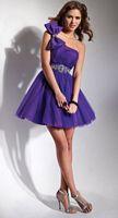Flirt One Shoulder Short Tulle Homecoming Dress PF5010 image