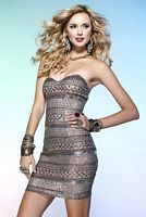 Scala Sexy Fitted Mini Beaded Sequin Prom Dress Q1028 image