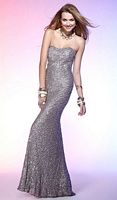 Scala Sexy Fitted Sequin Beaded Long Prom Dress Q1031 image
