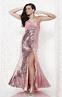 Riva Designs Sequin and Satin Prom Dress R9400 image