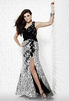Riva Designs Onyx Silver Sequin Prom Dress R9403 image