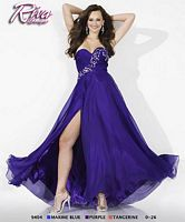 Riva Designs Allover Beaded Prom Dress R9404 image