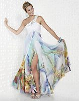 Riva Designs Beautiful Spring Print Prom Dress R9407 image