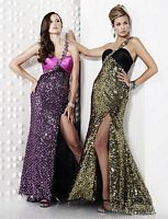 Riva Designs One Shoulder Sequin and Satin Prom Dress R9408 image