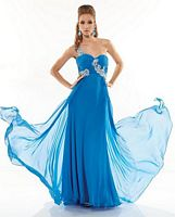 Riva R9570 One Shoulder Chiffon Evening Dress image