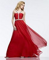 Riva R9708 Illusion Chiffon Evening Dress image