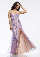 Riva R9710 Evening Dress with High Slit image