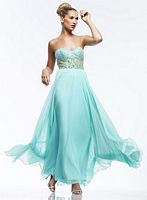 Riva R9712 Strapless Chiffon Evening Dress image
