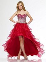 Riva R9714 High Low Organza Ruffle Party Dress image