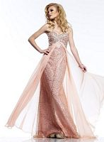 Riva R9718 Sheer Flyaway Evening Dress image