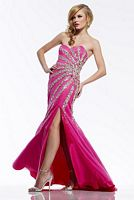 Riva R9727 Beaded Net Evening Dress image