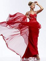 Riva R9728 Ruched Bodice Formal Dress image
