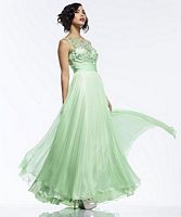 Riva R9737 Evening Dress with Pleated Skirt image