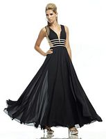 Riva R9744 Illusion Back Formal Dress image
