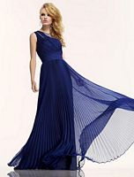 Riva R9770 Sleeveless Pleated Evening Dress image