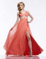 Riva R9778 Ruched Chiffon Evening Dress image