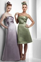 Size 12 Bari Jay Tea Length Bridesmaid Dress 903 image