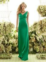 After Six Long Matte Satin Bridesmaid Dress 6550 by Dessy image