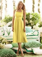 Size 6 Oasis Tea Length Halter After Six Bridesmaid Dress 6554 image