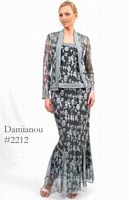 Damianou Long Floral Lace 3pc Mother of the Bride Dress 2212 image