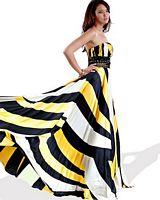 Jovani White Yellow Black Bold Print Evening Dress 154007 image