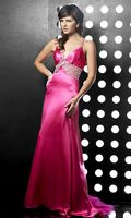 Jasz Couture Beads Sequins Waterfall Back Evening Dress 3037 image
