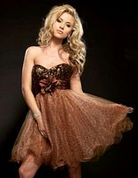 Jasz Couture Sequin Tulle Short Cocktail Dress 4016 image