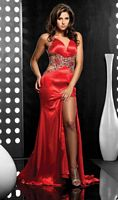 Gorgeous Chunky Stone Evening Dress 4061 by Jasz Couture image