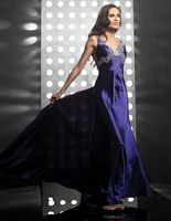 Butterfly Beaded Back Evening Dress 4067 by Jasz Couture image
