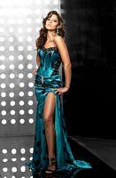 Jasz Couture Bustier Polka Dot Evening Dress 4098 image