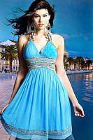 Scala Turquoise Short Semi-Formal Dress N7013 image