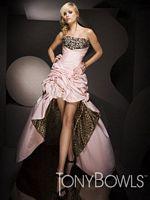 Hi Lo Leopard Tony Bowls Evenings Dress TBE11069 image