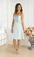 Strapless Satin Pretty Maids 22334 Bridesmaid Dress by House of Wu image
