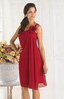 One Shoulder Pretty Maids Bridesmaid Dress 22338 by House of Wu image