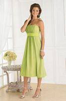 Tea Length Pretty Maids Bridesmaid Dress 22343 by House of Wu image